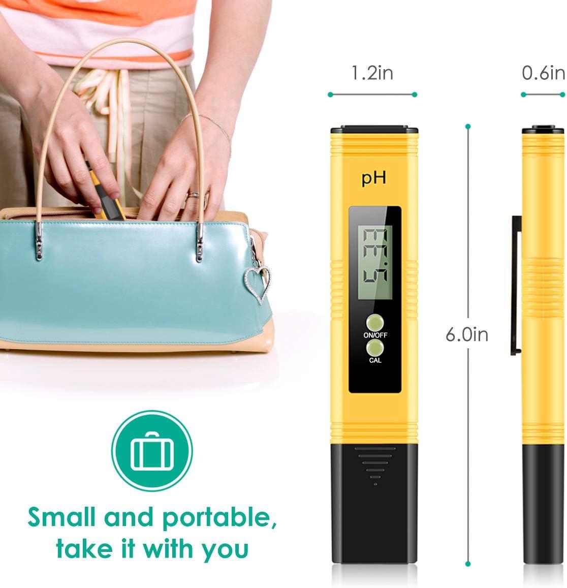 KoolaMo 0.01 pH Accuracy Yellow Digital Ph Meter