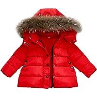 Mitlfuny Invierno Plumífero Acolchado Chaqueta Niñas Niños Bebé Algodón Abrigo con Capucha Cálido Manga Larga Color…
