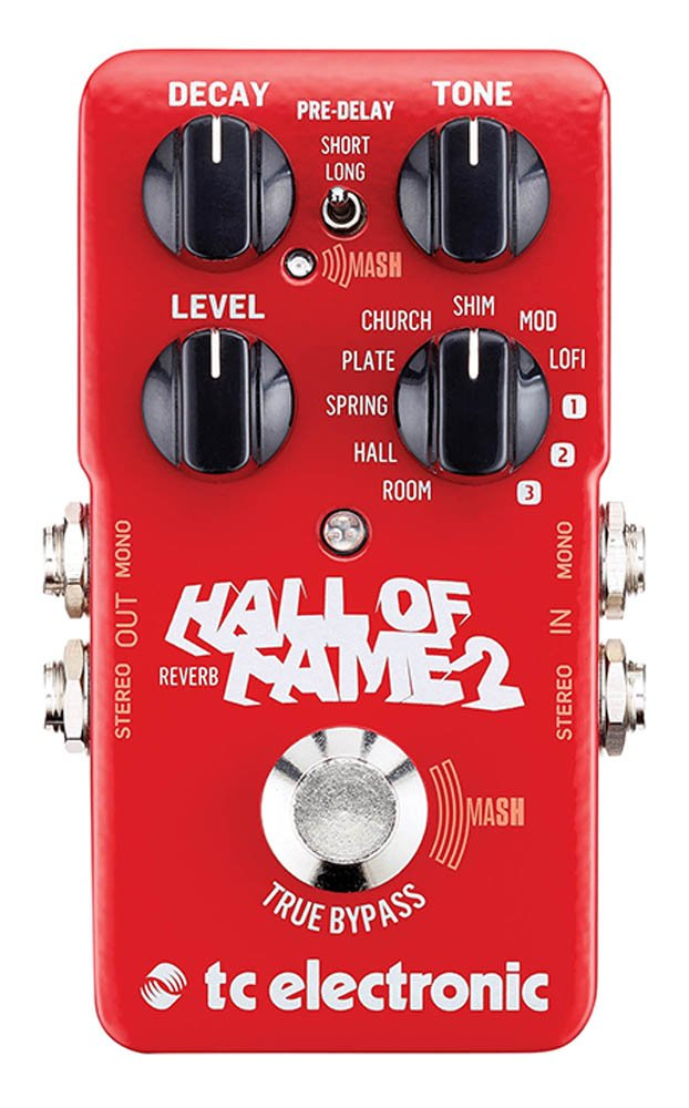 TC Electronic 960661001 Hall of Fame 2 Reverb Pedal