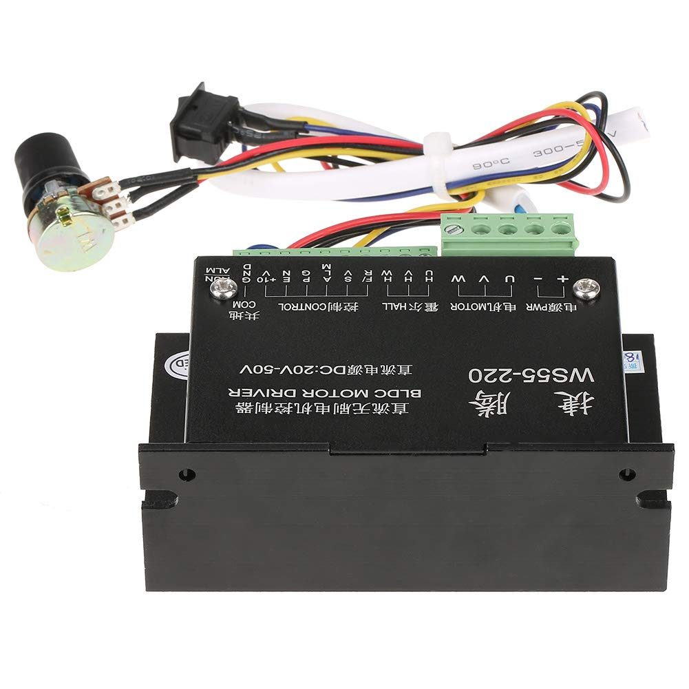 M/ódulo de controlador de motor BLDC CNC DC48V-500W WS55-220 sin escobillas