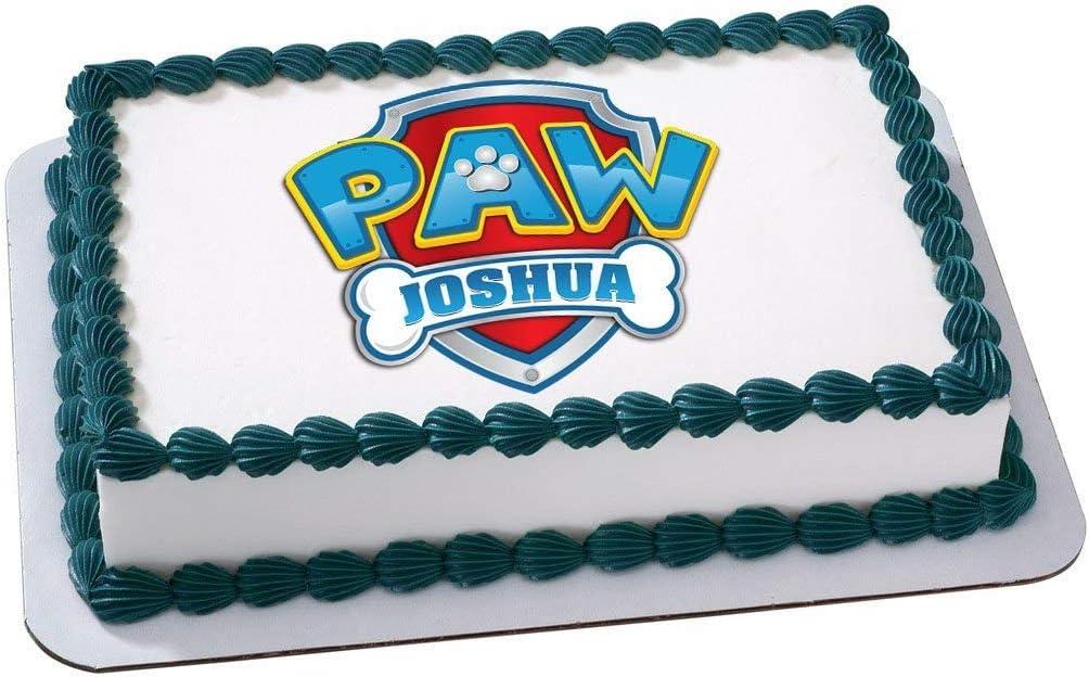 Marvelous Amazon Com Paw Patrol Logo Nick Jr Edible Personalized Cake Icing Funny Birthday Cards Online Alyptdamsfinfo
