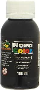 لون اكريليك من نوفا كلر NC-512، 100 مل - اسود