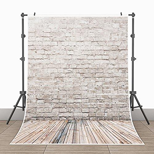 3x5ft Photography Background Vinyl Backdrop Paper Studio Props-Wood Floor Tile Wall