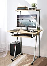 office table photos. Aingoo Mobile Computer Desk Small Rolling Workstation Laptop Stand With Printer Shelf And Keyboard Space, Office Table Photos