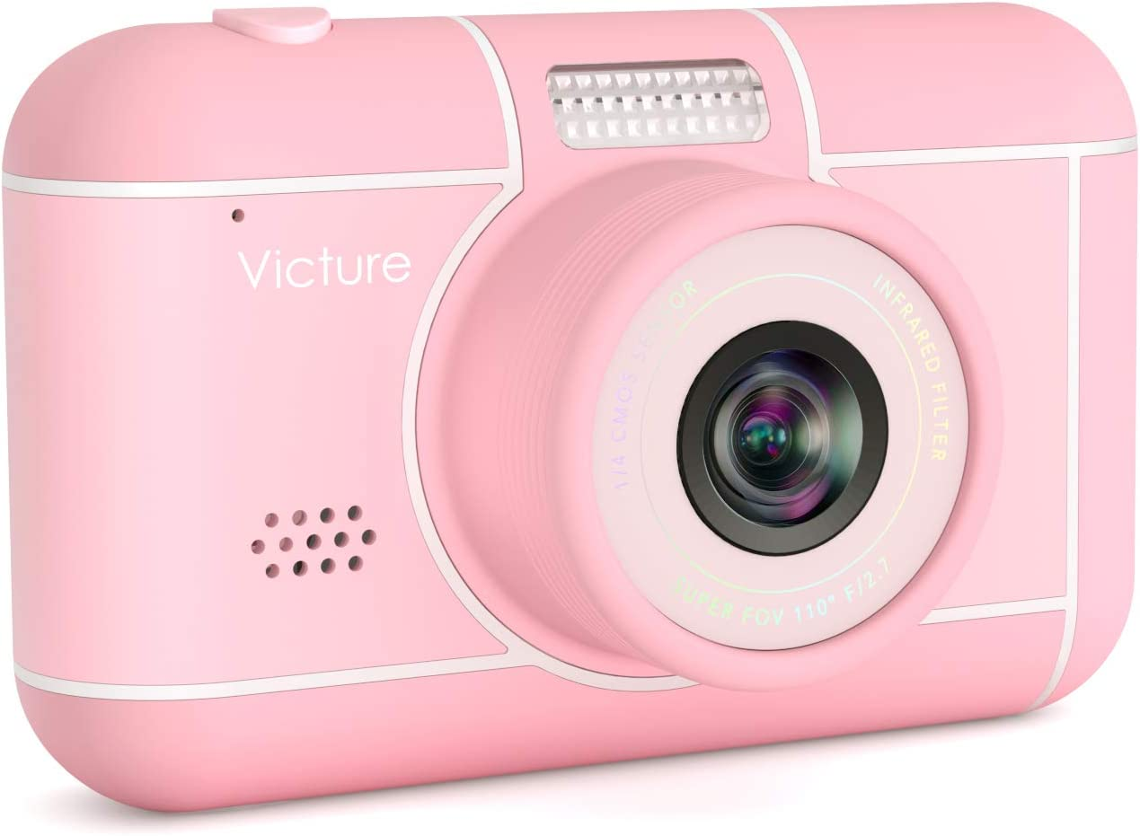 Victure Kids Camera 26MP 1080p FHD Video Digital Selfie Rechargeable Shockproof Camcorder 3x Digital Zoom for Children Christmas Birthday New Year gifts Toys for 3-12 Years Old Boys Girls with SD Card