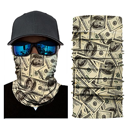 OWMEOT 3D Face Sun Mask, Neck Gaiter, Headwear, Magic Scarf, Balaclava, Bandana, Headband Fishing, Hunting, Yard Work, Running, Motorcycling, UV Protection, Great Men & Women (F)