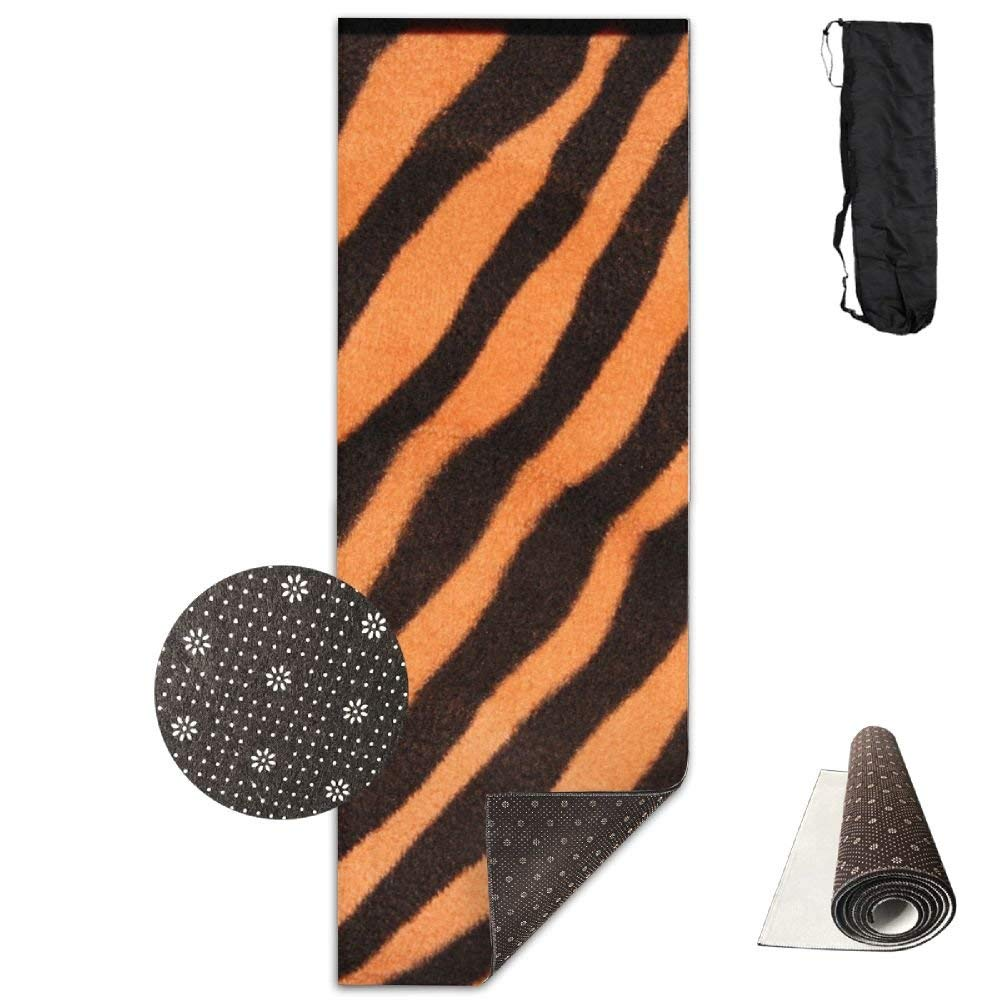Tiger Texture Animal Print Yoga Mat  Advanced Yoga Mat  NonSlip Lining  Easy to Clean  LatexFree  Lightweight and Durable  Long 180 Width 61cm