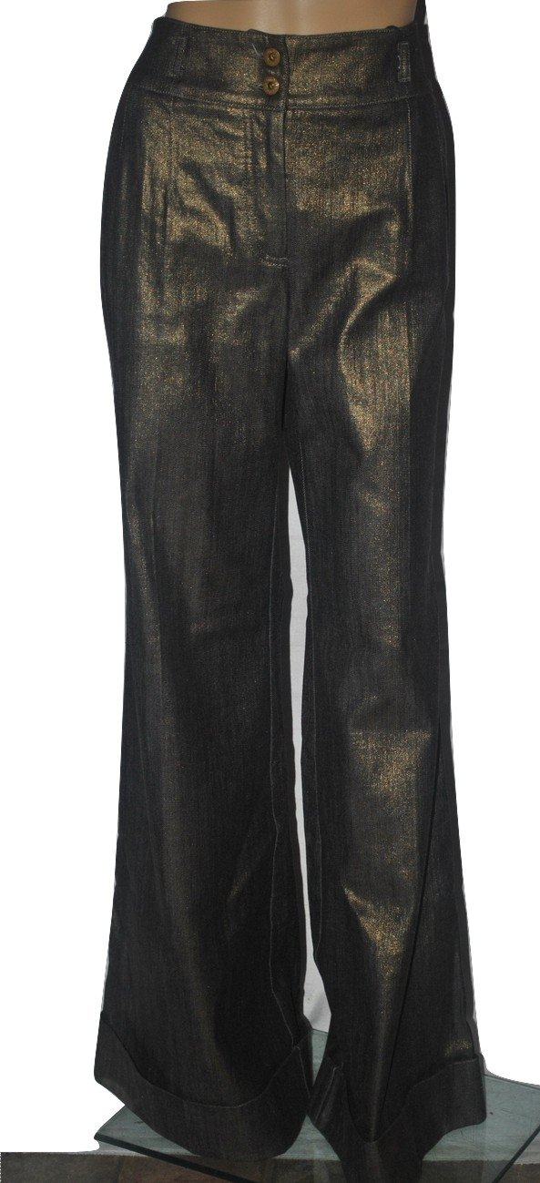 Dolce & Gabbana Women's Oro Antico Super Wide Bell Bottom Jeans Size 10 (44IT)