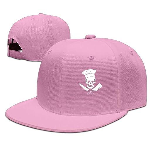 587c80782e8 Fashion Cooking Skull Chef Mustache Unisex Skull Hat Grill Master Snapback  Hats Adjustable Flat Bill Baseball