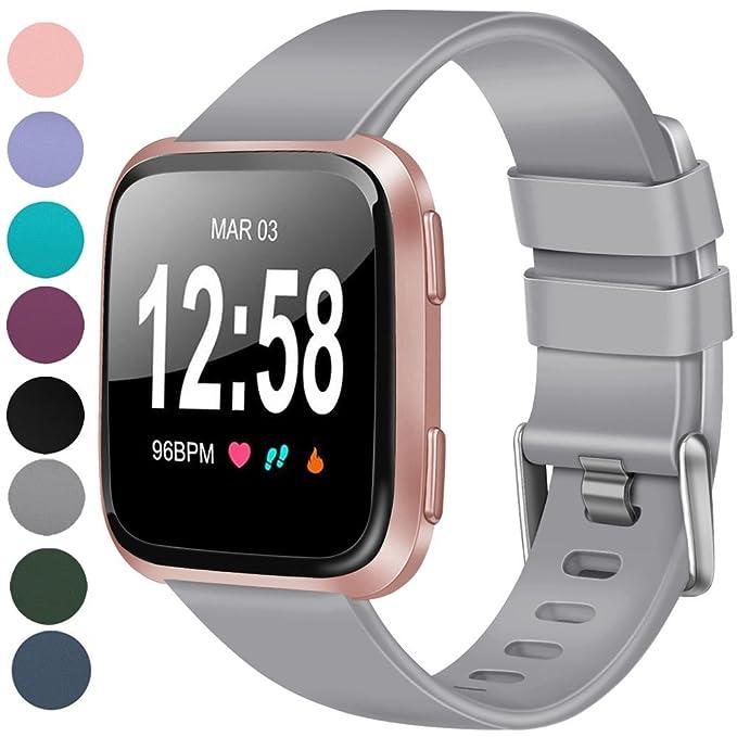 Vancle Fitbit Versa Correa, Ajustable Reemplazo Correas para Fitbit Versa Smartwatch Grande Pequeño