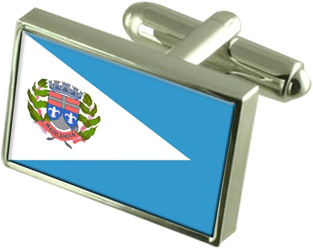 Marilandia City Espirito Santo State Flag Cufflinks
