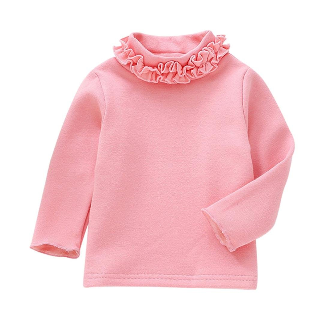Fullfun 2-7T Girls High Collar Warm Sweatshirt