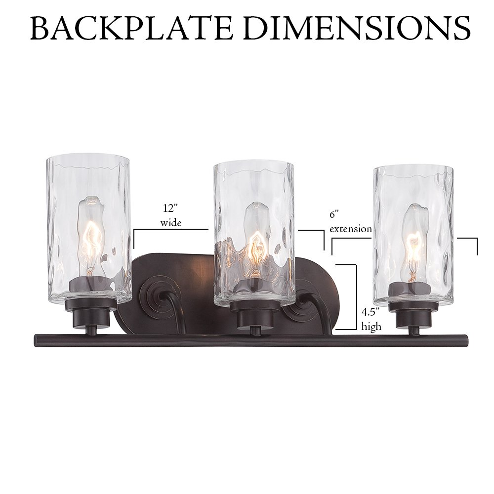 87103-OEB Bathroom Lighting, Gramercy Park 3 Light Bath Vanity by Designers Fountain