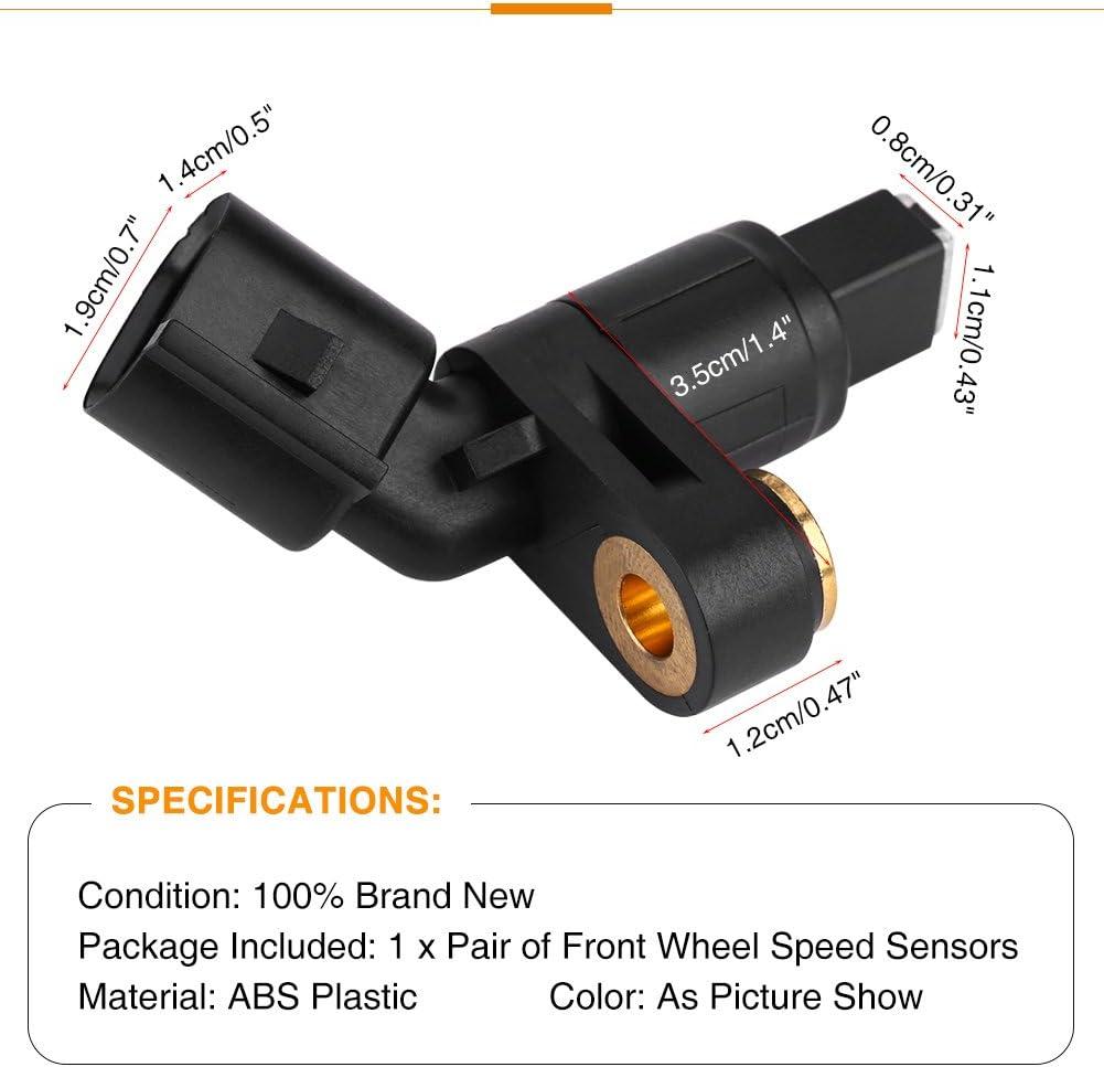 1 par Sensor de Velocidad de Rueda Delantera del Coche para 1J0927803 1J0927804 1H0927807 1H0927808