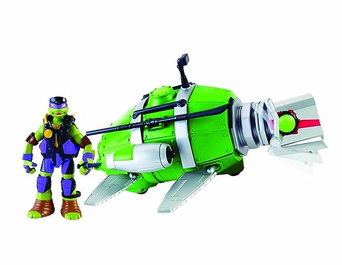 Tortugas Ninja- Disney Submarino + Donatello, 33.8 x 19.3 x 11.2 (Giochi Preziosi Spagna 94007)