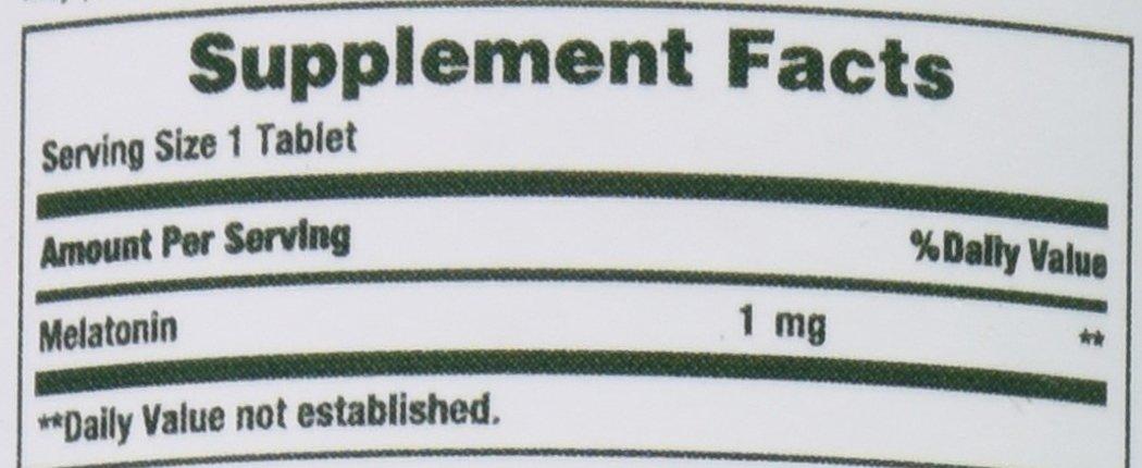 Nature's Bounty Melatonin 1 mg, 180 Tablets by Nature's Bounty (Image #2)