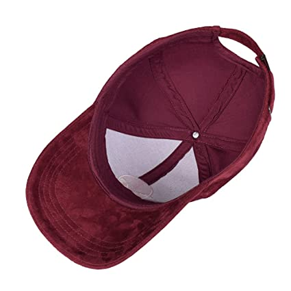Amazon.com: Bangni Unisex Faux Suede Baseball Cap Adjustable Plain Dad Hat For Women Men Embroidery Cap: Clothing