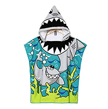 keephen Niños Ducha Toalla Playa Swim Shower Toalla con capucha Poncho Toalla Cartoon Albornoz con capucha: Amazon.es: Hogar