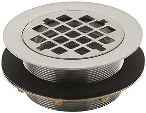 KOHLER K-9132-BN Shower Drain, Vibrant Brushed Nickel
