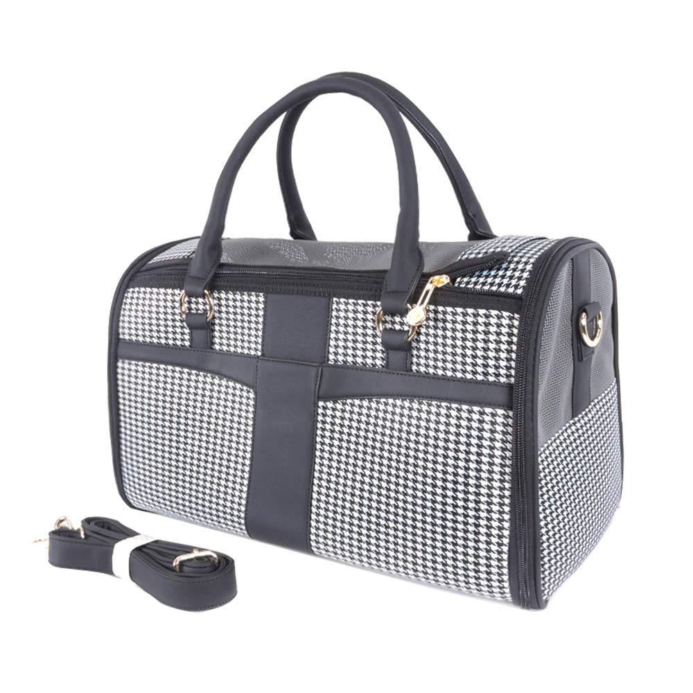 DYYTR Foldable Portable Cat Carrier, Breathable Mesh Dog Backpack Outdoor Travel Shoulder Bag (black)