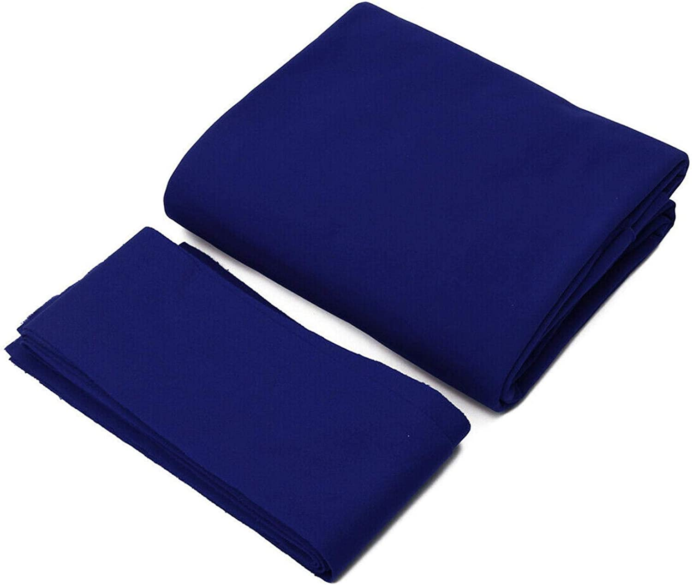 YOUNGL Billiard Pool Table Cloth - Worsted Wool+Nylon Billiard Cloth - Home Hotel 7/8/9 feet Mat 6pcs Strips Bar Billiard Pool Table Cloth Professional Durable