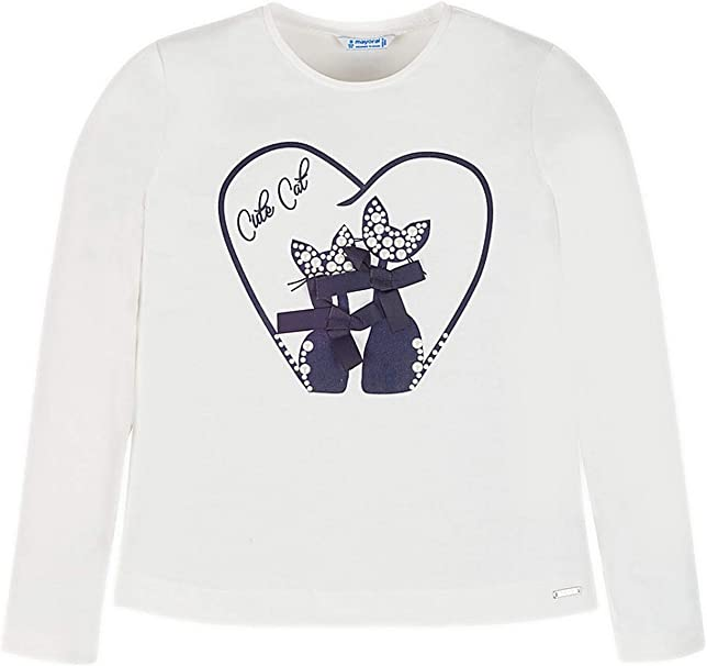 7004 Natural Mayoral L//s t-Shirt for Girls