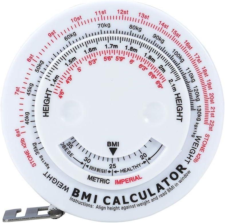 indice de masse corporelle Mesure de la graisse M/ètre /à ruban rond r/étractable Calculateur pr/écis de la masse grasse corporelle Calculatrice de remise en forme Outil de me M/ètre /à ruban pour le corps