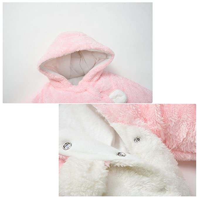 766b08da2 Free Fisher-Mameluco Recién Nacido Traje para Nieve Infantil Buzos Equipar  Abrigo con Capucha Mono Romper Grueso-Talla 73 Rosa 6-9 Meses  Amazon.es   ...