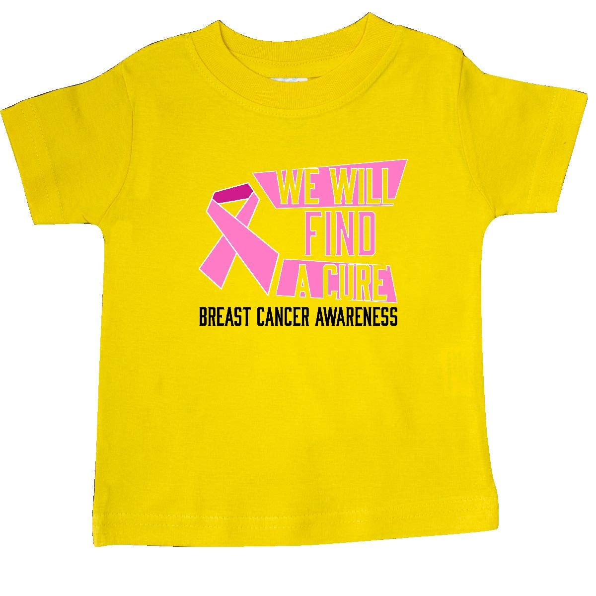 inktastic We Will Find a Cure Breast Cancer Awareness Baby T-Shirt