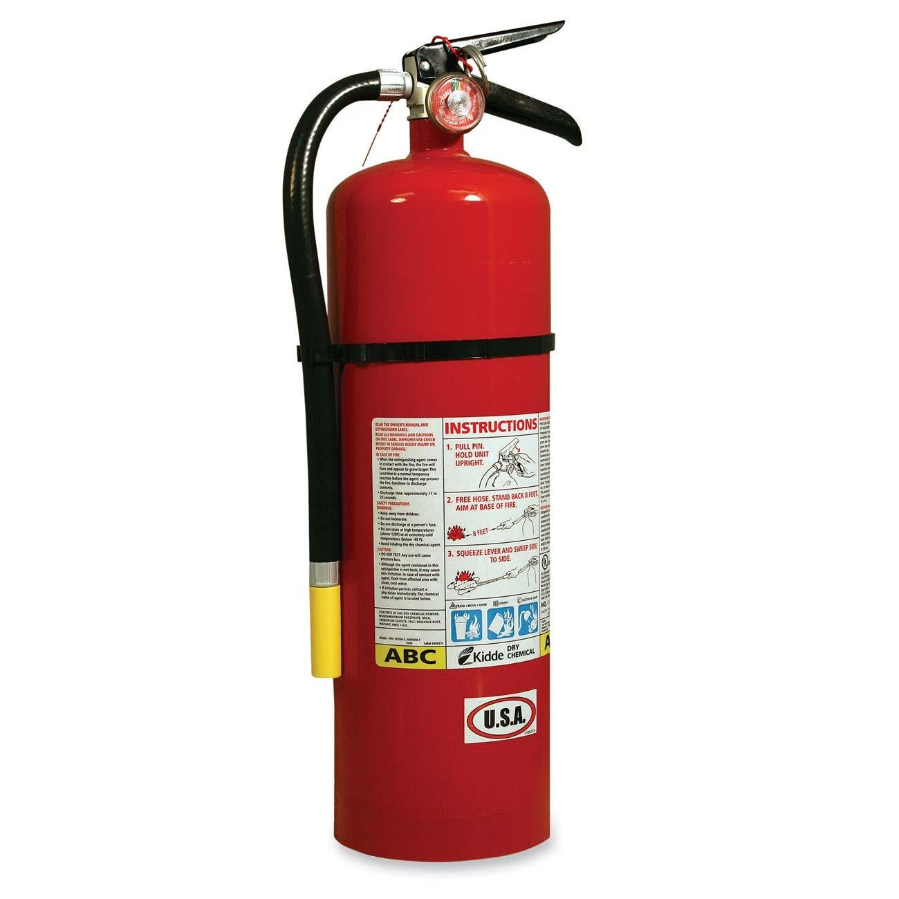 Kidde Automotive 2. 75 LB BC Extinguisher With Steel Strap Brackets