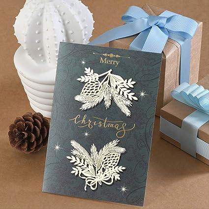 8pcs Carte De Voeux De Noël Carte Cadeau De Remerciement