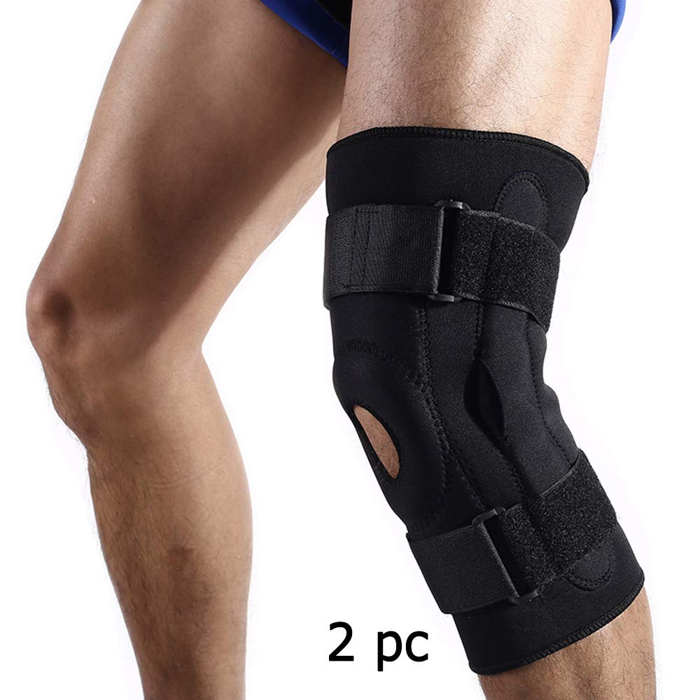 ALTINOVO 2 pc Knee Brace Strap, Knee Pain Relief & Patella Stabilizer for Hiking, Soccer, Basketball, Running