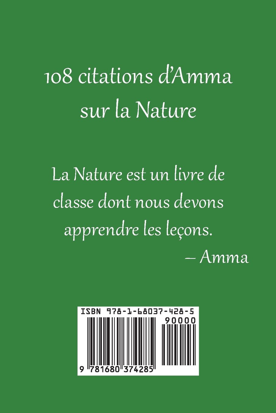 Buy 108 Citations D Amma Sur La Nature Book Online At Low