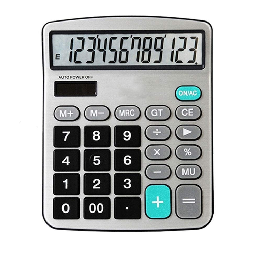 Calculator Solar Dual Power Standard Function Electronic Calculator 12 Large LCD Monitor Handheld Basic Office Calculator Vineyard (Color : 2A) by Vineyard