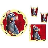 Disney - Ratatouille Remy - Juego de Vajilla para fiestas cumpleaños para 10 niños