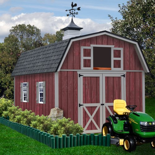 Outdoor Wood Storage Building (Best Barns Woodville 10' X 16' Wood Shed Kit)