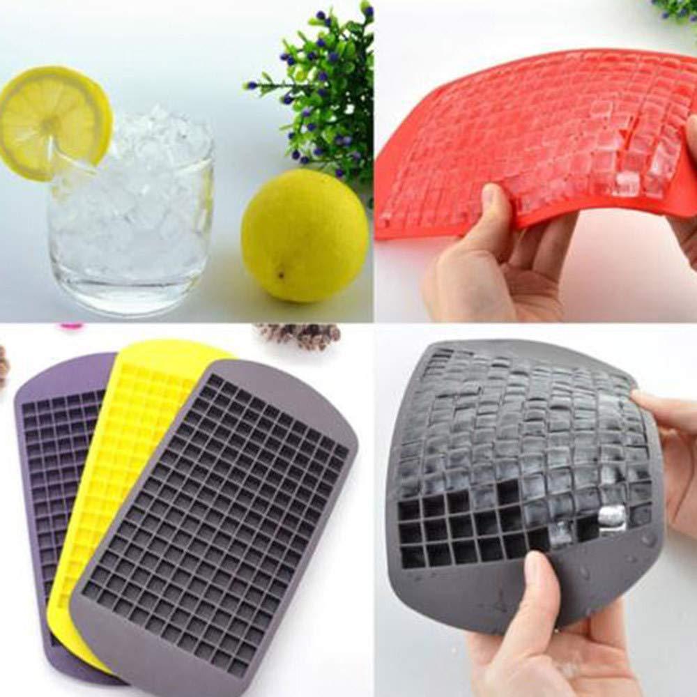 HCFKJ 160 Zellen Mini Eisw/ürfel Silikon Tray Kitchen Bar Puddingform Mold Dainty Tool