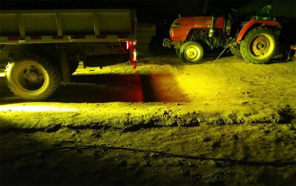 Phare lumi/ère de travail jaune projecteur 72W haute puissance d/éclairage 3000k//10800LM moto avant ampoules Offroad accessoires de voiture /éclairage faisceau haute IP67,2pcs perles de lampe