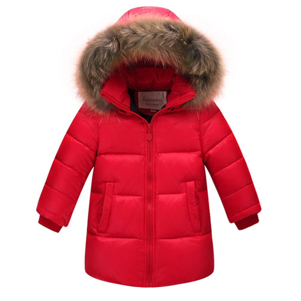 Amazon.com: AMUR LEOPARD Girls Puffer Jacket Winter Parka White Duck Down Coat With Big Fur Hood: Clothing
