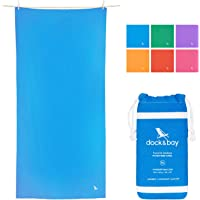 Microfiber Towel - Active & Yoga (Blue - Extra Large 200x90cm) - for Camping & Travel, Gym & Yoga, Beach & Boat