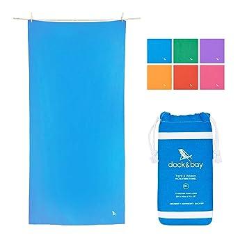 Dock & Bay Toallas de Microfibra para Deportes y Camping - Classic - Azul - Pequeña