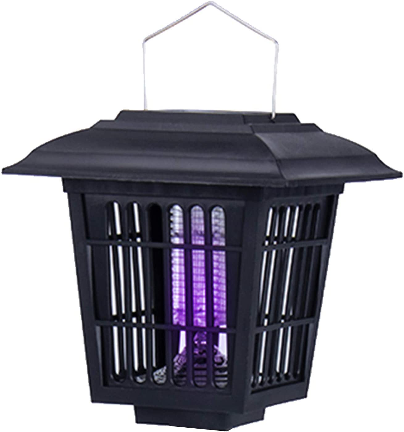 YIER Solar-Powered Outdoor Insect Killer/Bug Zapper/Mosquito Killer- Hang or Stick in The Ground - Dual Modes - Bug Zapper & Garden Light Function
