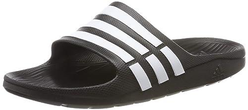 aad069393819 adidas Duramo Slide, Ciabatte Unisex Adulto, Nero (Black/White/Black)