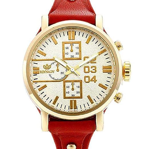 Scpink Relojes de señora análogos del Cuarzo del diseño Retro, Relojes para Mujer, en