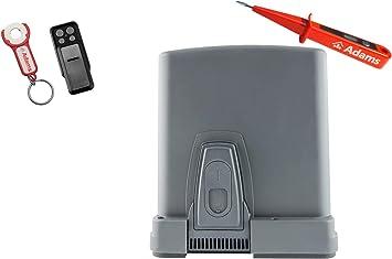 Sommer STArter+ - Motor de puerta corredera (400 kg, con emisor manual Slider+ con remolque ADAMS, 3 en 1D, comprobador de corriente ADAMS): Amazon.es: Bricolaje y herramientas