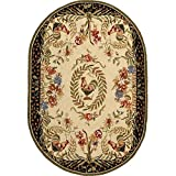 Safavieh Chelsea Collection HK92A Hand-Hooked Cream and Black Premium Wool Oval Area Rug (4'6″ x 6'6″ Oval) Review