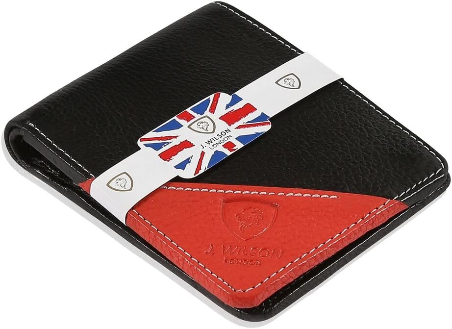 Wilson London Mens Bifold Coin Leather Wallet Blue J