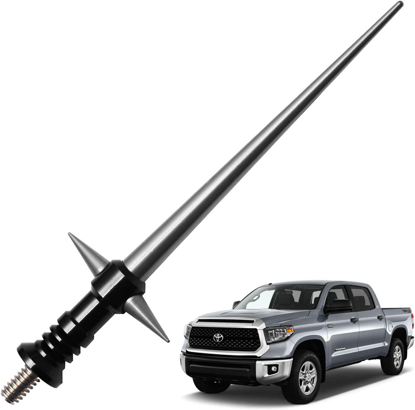 Black JAPower Replacement Antenna Compatible with Toyota Tacoma 1995-2015 5.25 inches