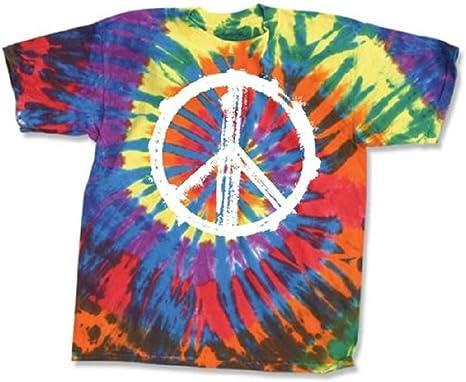 materiali superiori Regno Unito vendita calda reale Amazon.com: dyenomfte Tye Dye T Shirt with Peace Sign (XX-Large ...