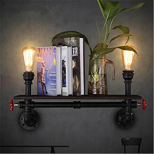 wall light vintage industrial loft steampunk bookshelf creative iron